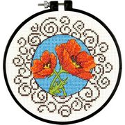 Dimensions Poppies Cross Stitch Kit