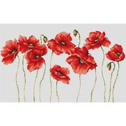 Luca-S Eleven Poppies Cross Stitch Kit