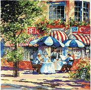 Design Works Crafts Cafe in the Sun Cross Stitch Kit