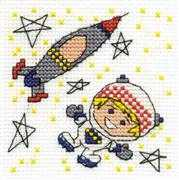 DMC Be a Rocket Man Cross Stitch Kit