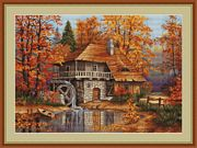 Luca-S Autumn Landscape Cross Stitch Kit