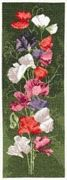 Sweet Pea Panel - Aida - Heritage Cross Stitch Kit