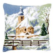 Vervaco Alpine Church Christmas Cross Stitch Kit