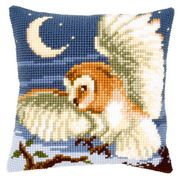 Owl Cushion - Vervaco Cross Stitch Kit
