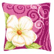 Vervaco Camellia Cushion Cross Stitch Kit