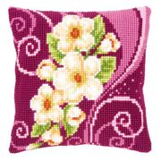 Vervaco Camellia Spray Cushion Cross Stitch Kit