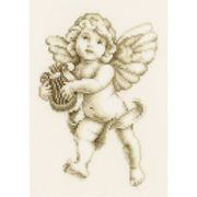 Cherub with Harp - Vervaco Cross Stitch Kit