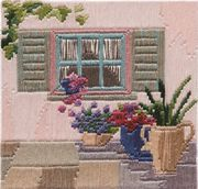 Derwentwater Designs Courtyard Window Long Stitch Kit