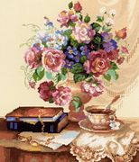 Etude with Flowers - RIOLIS Cross Stitch Kit