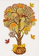 RIOLIS Tree of Money Cross Stitch Kit