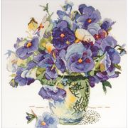 Design Works Crafts Pansy Floral Cross Stitch Kit