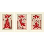 Rustic Christmas Card Set - Vervaco Cross Stitch Card Design