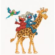 Thea Gouverneur Sesame Street Safari Cross Stitch Kit