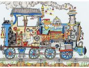 Bothy Threads Cut Thru Steam Train Cross Stitch Kit
