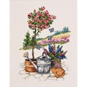 Rose Tree - Aida - Permin Cross Stitch Kit