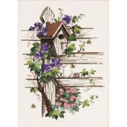 Permin Wisteria Birdhouse Cross Stitch Kit