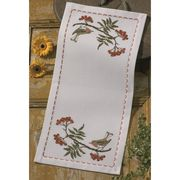 Permin Autumn Robin Runner Cross Stitch Kit