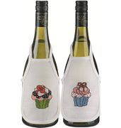 Cupcakes Wine Aprons - Permin Cross Stitch Kit