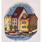 Harbour - Permin Cross Stitch Kit