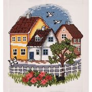 Village - Permin Cross Stitch Kit
