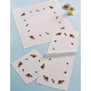 Permin Roses Table Mat Cross Stitch Kit