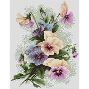 Luca-S Pansies Cross Stitch Kit
