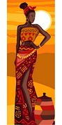 African Beauty - Royal Paris Tapestry Canvas