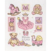 Girl Birth Sampler - Anchor Cross Stitch Kit