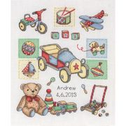Anchor Boy Birth Sampler Cross Stitch Kit
