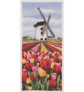 Dutch Tulips Landscape - Anchor Cross Stitch Kit