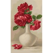 Luca-S Red Roses in Vase Cross Stitch Kit