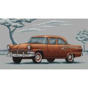 Luca-S Retro Sedan Cross Stitch Kit