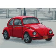 Luca-S Retro Beetle Cross Stitch Kit