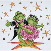 Design Works Crafts Dancing Frogs Cross Stitch Kit