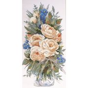 Design Works Crafts White Roses Cross Stitch Kit