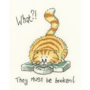 What!? - Evenweave - Heritage Cross Stitch Kit