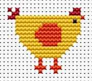 Fat Cat Easy Peasy Chicken Cross Stitch Kit