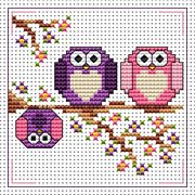 The Twits Card - Fat Cat Cross Stitch Kit