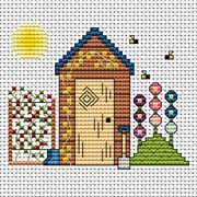 Garden Shed Card - Fat Cat Cross Stitch Kit