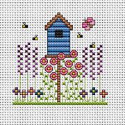 Birdhouse Card - Fat Cat Cross Stitch Kit