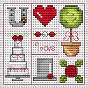 Red Wedding Card - Fat Cat Cross Stitch Kit