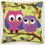Vervaco Owls Cushion Cross Stitch Kit