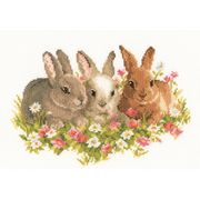 Vervaco We Three Kings - Rabbits Cross Stitch Kit