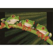 Red Eyed Tree Frog Trio - Vervaco Cross Stitch Kit