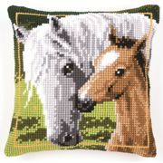 Mare and Foal Cushion - Vervaco Cross Stitch Kit