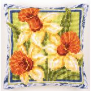 Daffodils Cushion - Vervaco Cross Stitch Kit