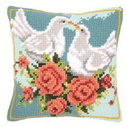 White Doves Cushion - Vervaco Cross Stitch Kit
