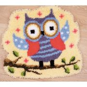 Vervaco Owls Shaped Rug Latch Hook Kit