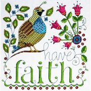 Design Works Crafts Have Faith Cross Stitch Kit