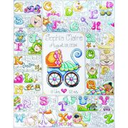 Design Works Crafts Special Delivery Sampler Birth Sampler Cross Stitch Kit